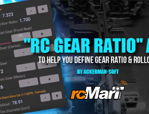 """RC Gear Ratio"" App – To Help You Define Gear Ratio & Rollout By Ackerman-soft"
