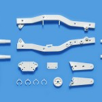 Tamiya 47406  WR-02CB F Parts (Frame) (White)