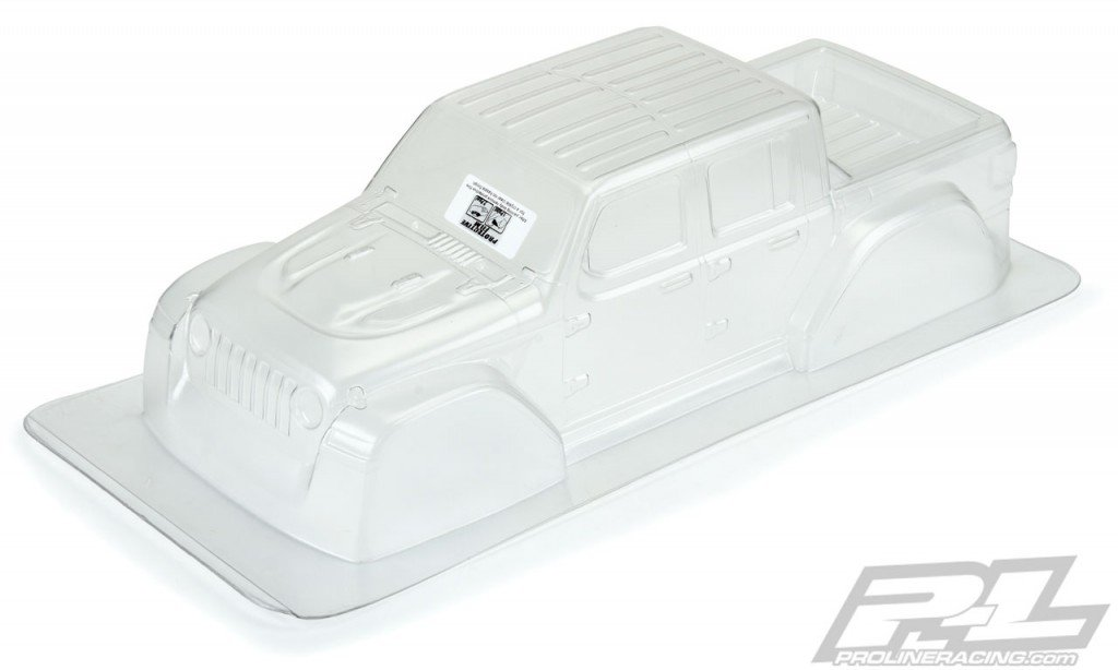 rcmart-blog-Pro-Line 2020 Jeep Gladiator Clear Body For 313mm Wheelbase Scale Crawlers #3535-00 (1)