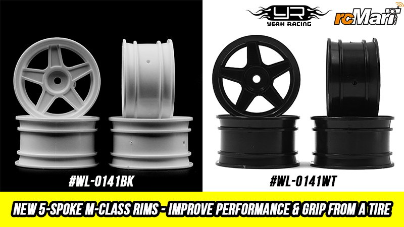 rcmart-blog-Yeah Racing New 5-Spoke M-class Rims - Improve Performance & Grip From a Tire #WL-0141