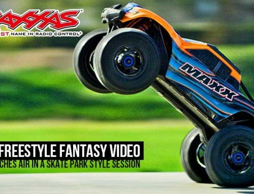 Traxxas Maxx letting it rip at the Skatepark!